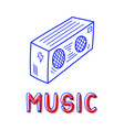 hand draw record player icon in doodle style for vector image