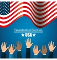 hands raised up election presidential graphic vector image vector image