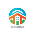 house building - logo concept vector image vector image