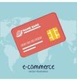 icon credit card e- commerce design vector image