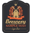 labels for the brewery vector image vector image