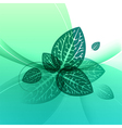 Leaves design abstract green background vector image vector image