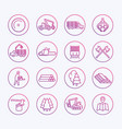 logging icons sawmill forestry equipment vector image