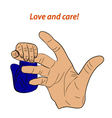 love and care vector image vector image