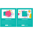 modern design set of pages vector image vector image