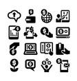 money business finance icon set vector image