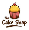 muffin cake shop icon logo vector image