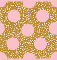mustard and pink playful spot polka dot seamless vector image vector image