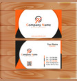 orange business card vector image vector image