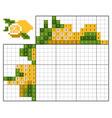 paint number puzzle nonogram lemon vector image vector image
