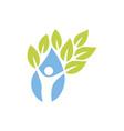 people gree healthy logo vector image