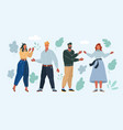 people on white background vector image vector image