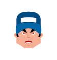 plumber angry emotion avatar fitter evil emoji vector image vector image