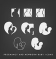 pregnancy and newborn icon set vector image