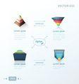 pyramid infographic design arrow draw design vector image