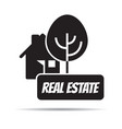 real estate logo outline icon vector image