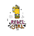 rebel girl sticker vector image
