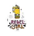 rebel girl sticker vector image vector image