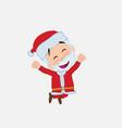 santa claus jumping for joy vector image vector image