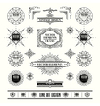 set of art deco retro vintage frame badge vector image