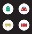 set of auto icons flat style symbols with electric vector image
