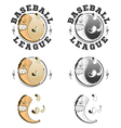 Set of baseball labels and badges vector image vector image