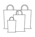 shopping bags concept in black and white vector image vector image