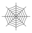 spiderweb icon isolated on white background vector image vector image