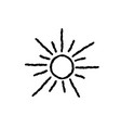 sun icon isolated over white background doodle vector image vector image