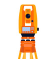 tacheometer theodolite and tripod geodetic vector image vector image