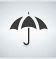 umbrella icon with dots vector image vector image