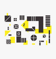 universal trend linear geometric shapes set vector image vector image