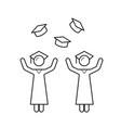 university graduates line icon vector image vector image