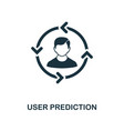 user prediction icon monochrome style design from vector image vector image