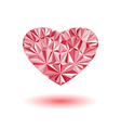 valentine is day card volumetric heart the vector image