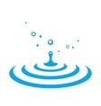water drop splash vector image