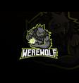 werewolf mascot sport logo design vector image vector image