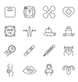 Womans health line icons set vector image vector image