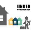 under construction proffesional architect vector image