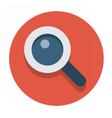 flat icons magnifier vector image