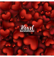 February 14 Love romantic 3D Realistic Red Hearts vector image