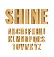 3d gold symbols alphabet vector image vector image