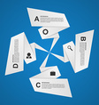Abstract paper options infographic Design element vector image vector image