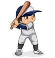 An Asian baseball player vector image vector image