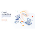 big data flow processing concept cloud technology vector image