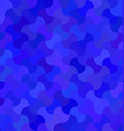 Blue curved mosaic pattern background design vector image vector image
