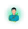 Businessman and graph icon comics style vector image vector image