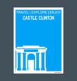 castle clinton ny usa monument landmark brochure vector image vector image