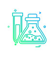 chemical flask icon design vector image vector image