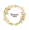 circular frame garland wreath or border made of vector image